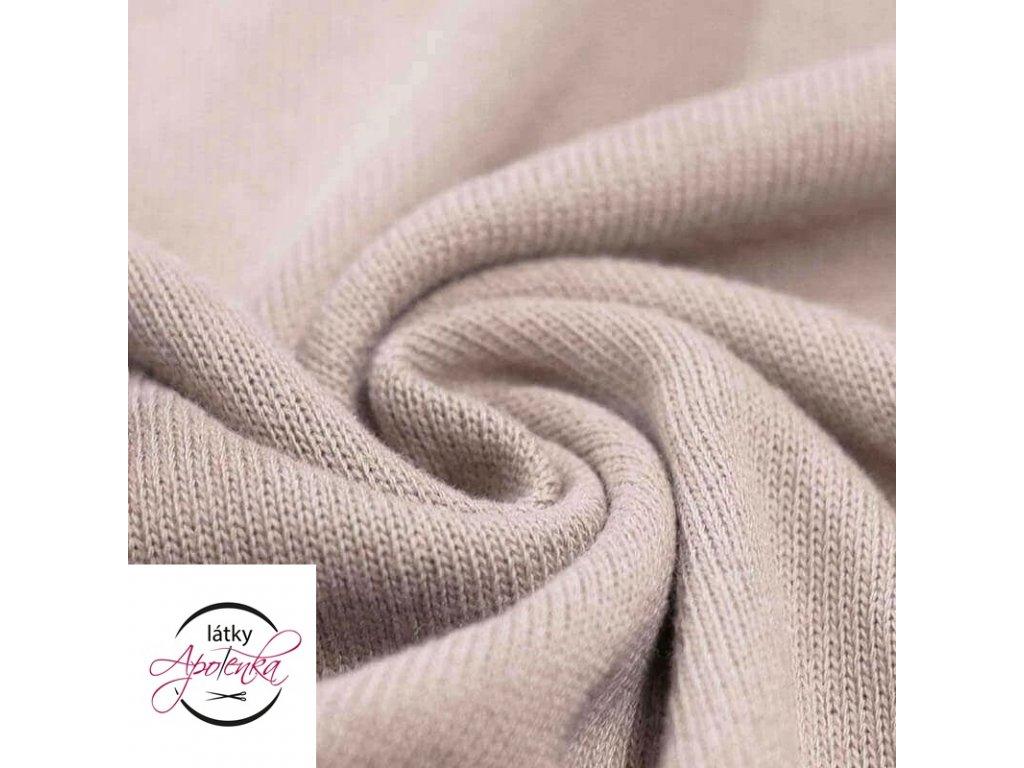 Cotton Knit Fabric Beige 800x800