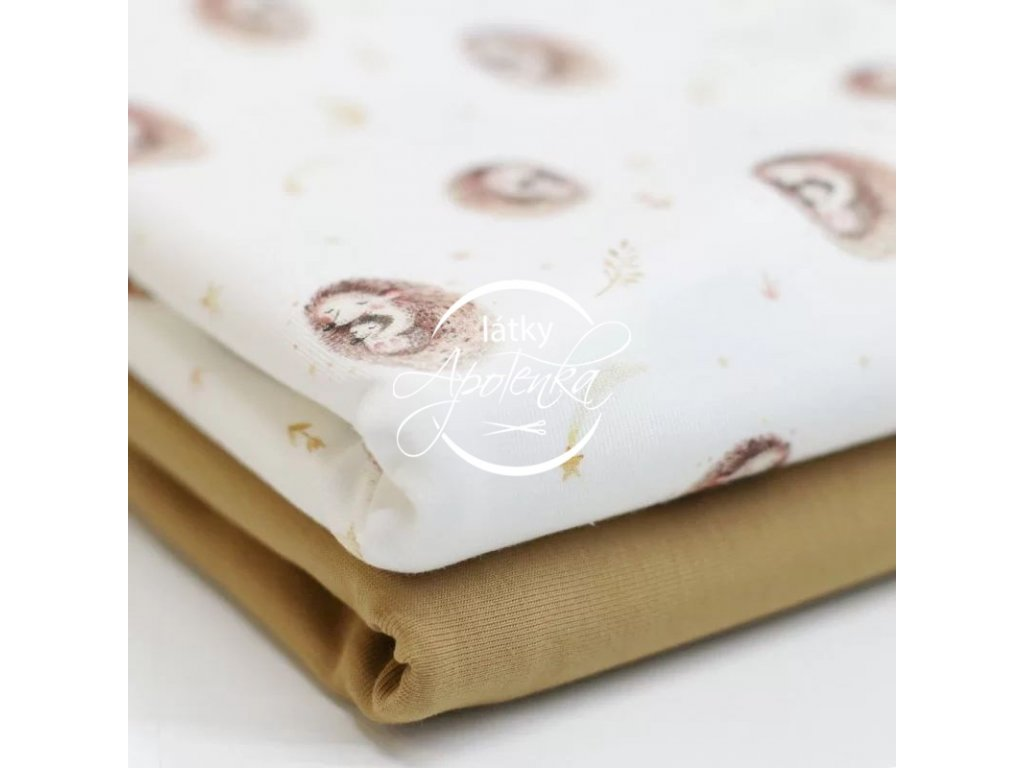 Jersey Cotton Fabric Sweet Hedgehog 2 800x800