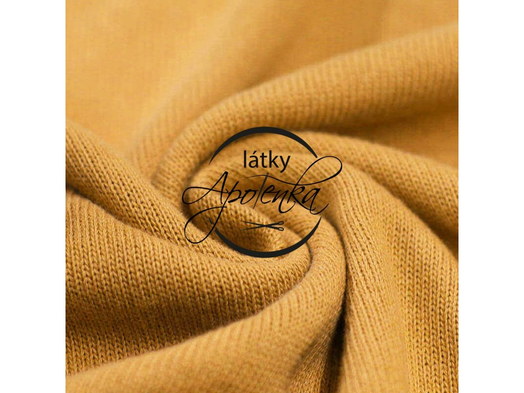 Baby knit fabric Ocher 800x800 R188415