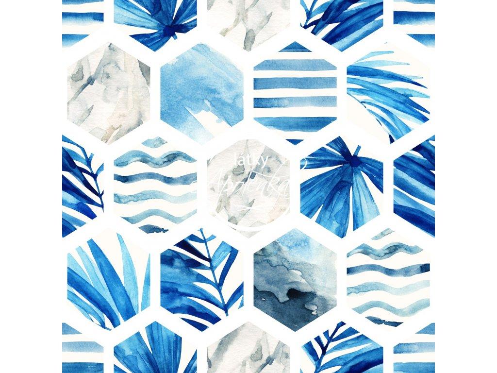 modré šestiúhelníky