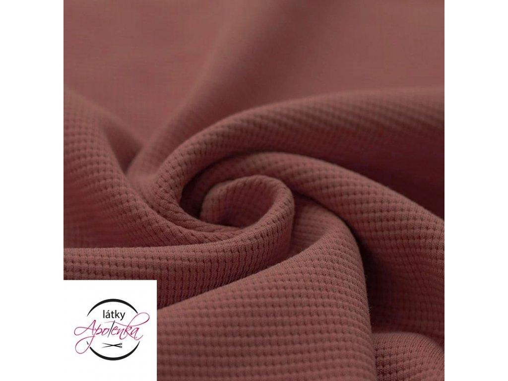 Waffle knit jersey clay pink 800x800