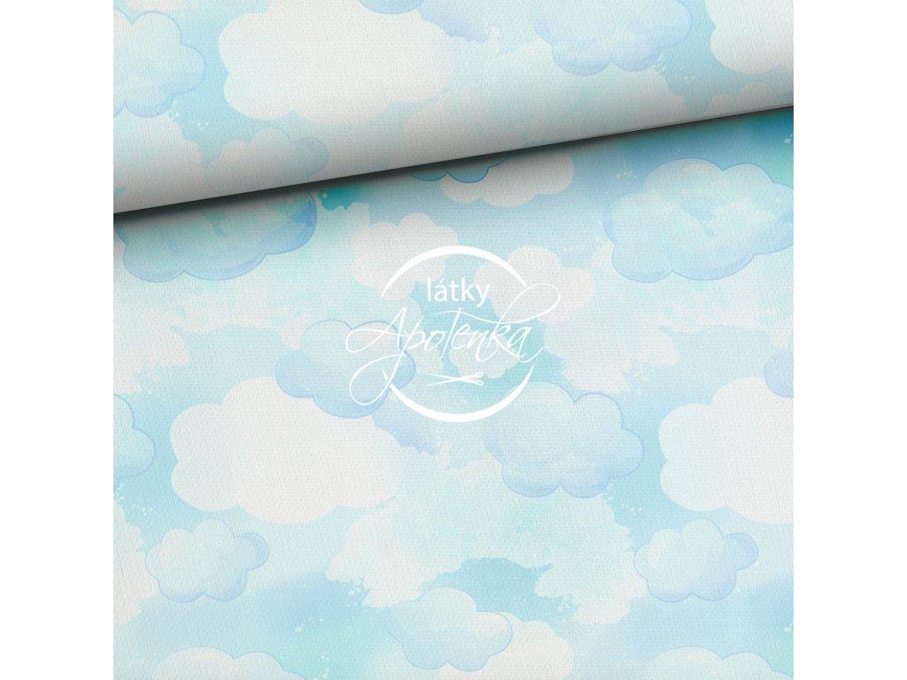 chmury niebiesko zielone