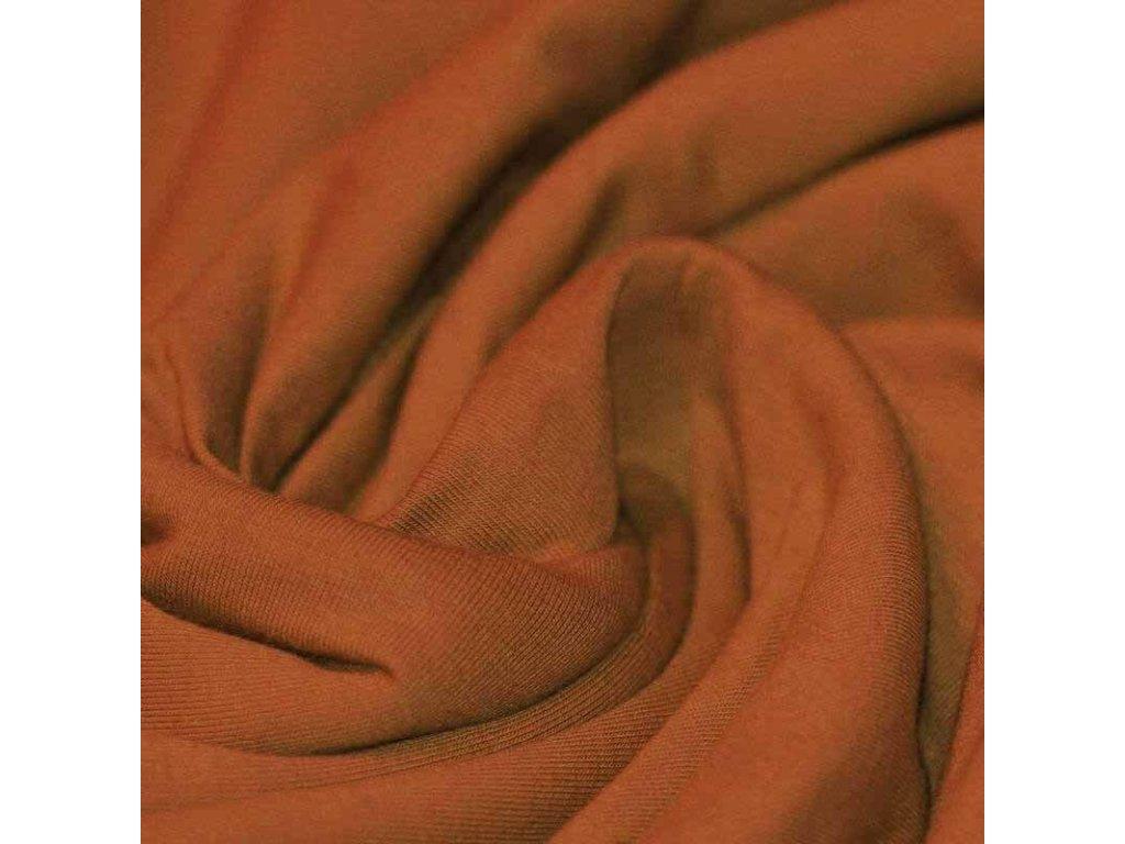 Jersey Cotton Knit Cognac 800x800