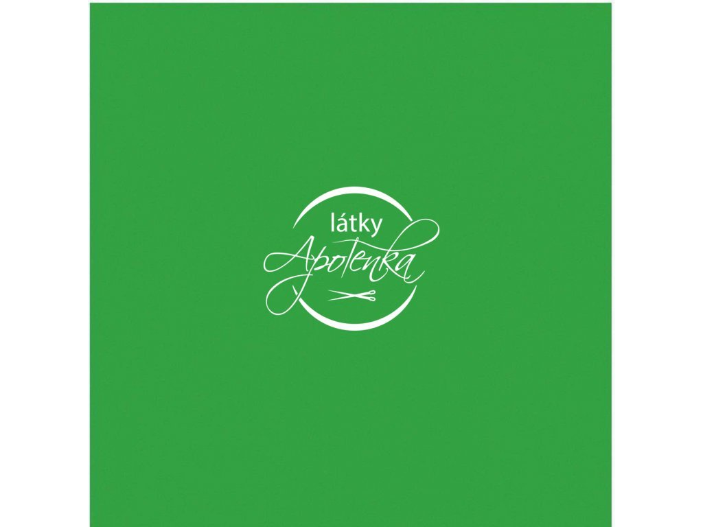Bavlněný jednobarevný úplet - Zelený 230g