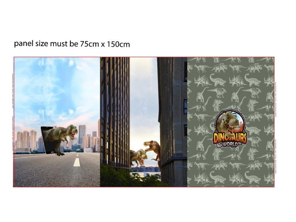 Trojpanel 75x150cm dinosauři 215g