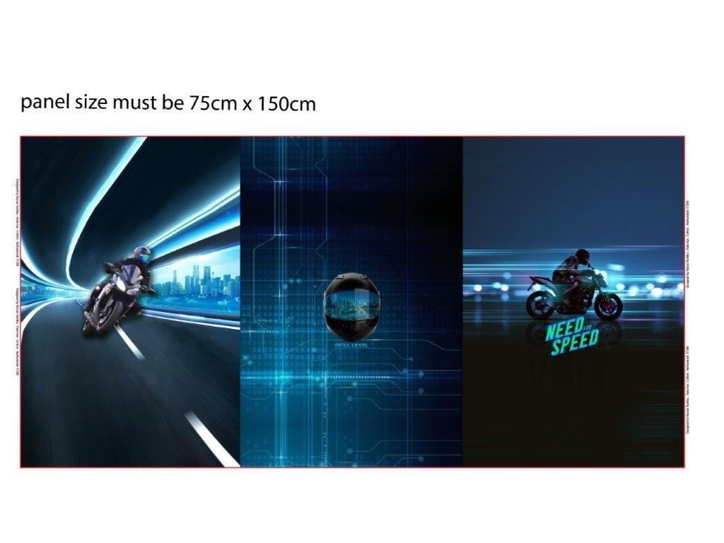 Trojpanel 75x150cm need for speed 215g