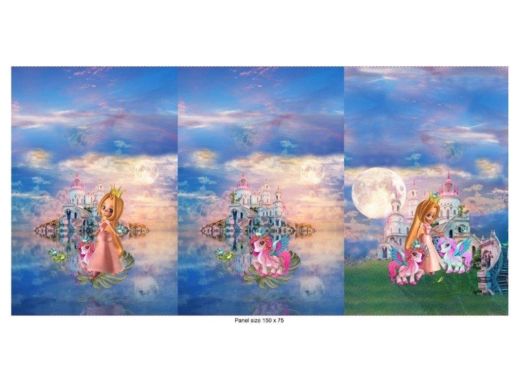 Trojpanel 75x150cm princezna se zámkem 215g
