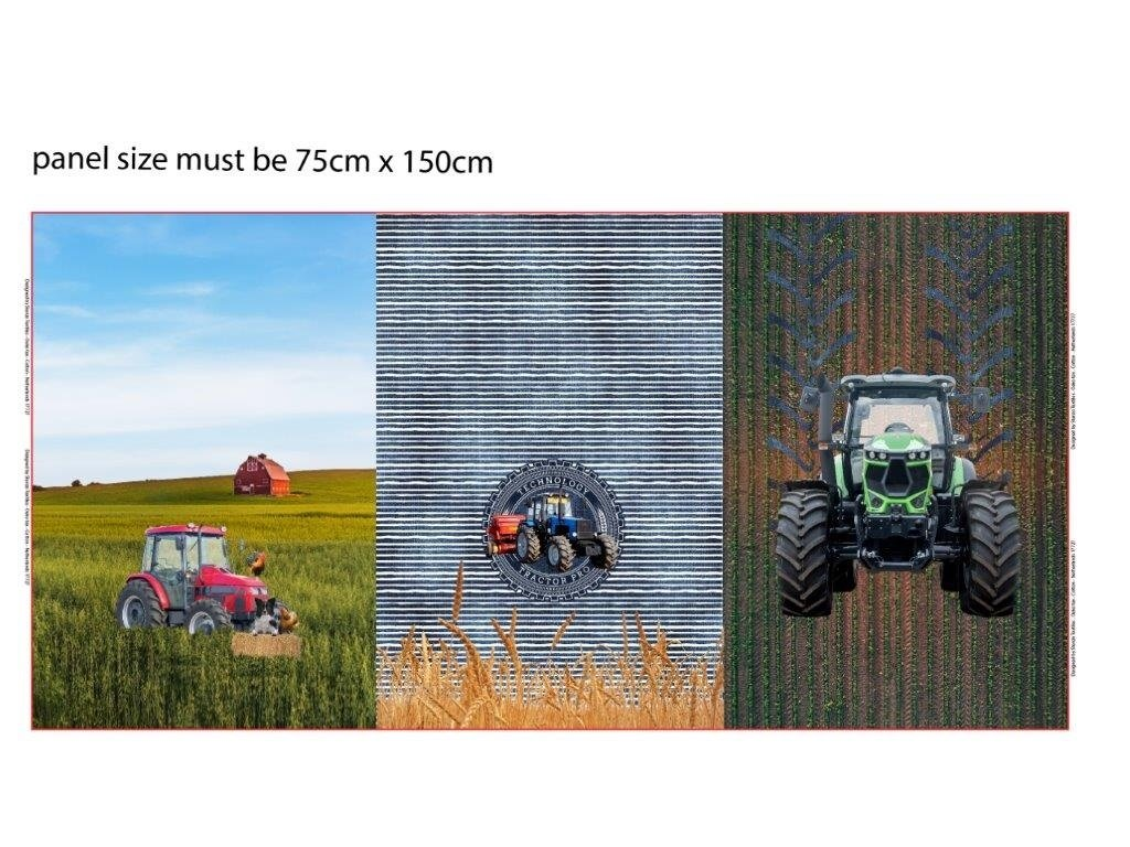 Trojpanel 75x150cm traktory 215g
