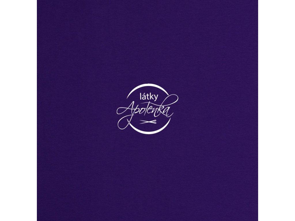Bavlněný jednobarevný úplet - Fialový 220g