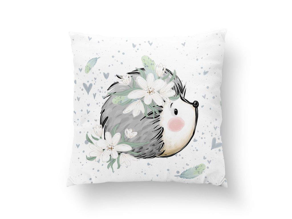 pillow panel m forest adventures hedgehog