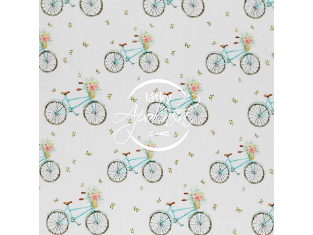 Jersey Cotton Fabric Bicycles 1 800x800