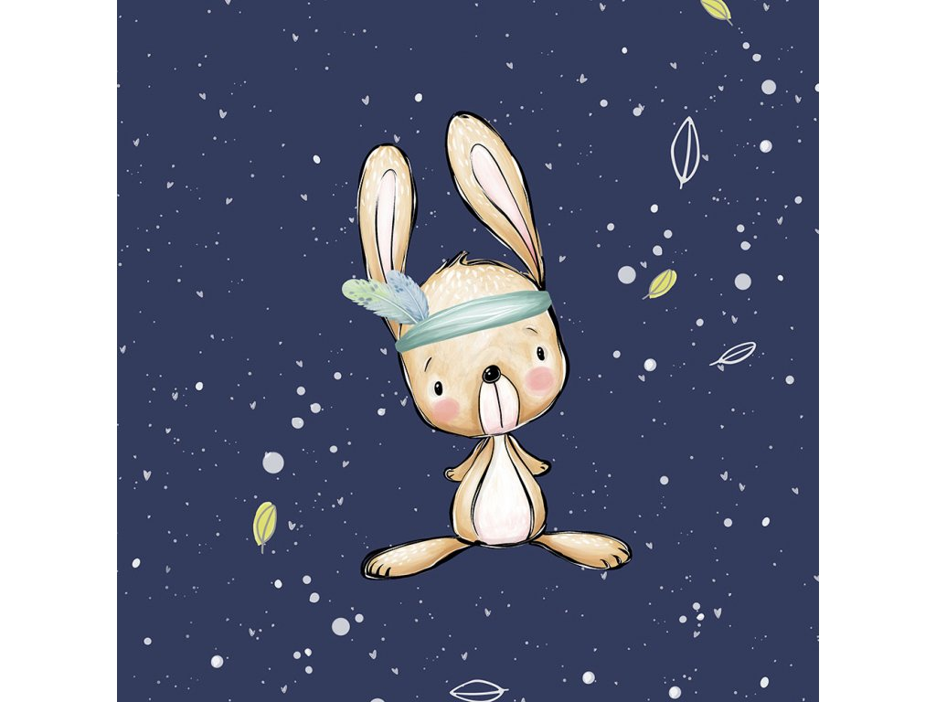 FT panel forest adventures bunny uni navy