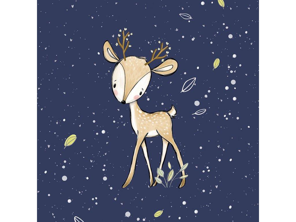 FT panel forest adventures deer uni navy