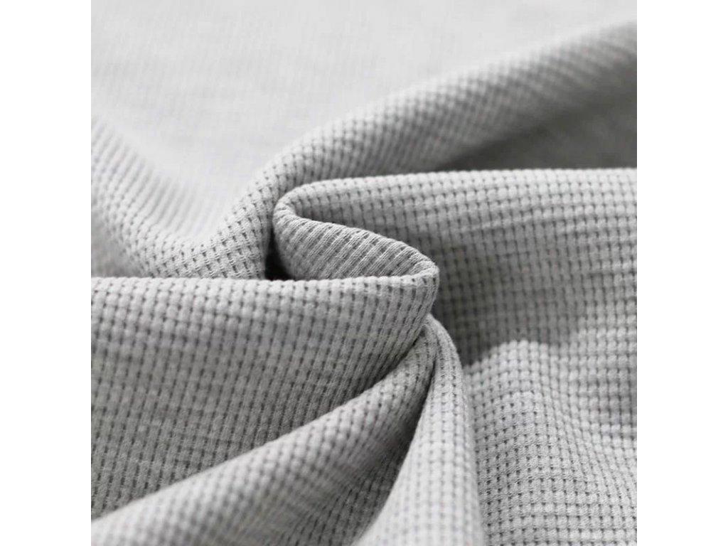 Zbytek 25cm - Bavlněný jednobarevný úplet - vafle sv.šedá 300g