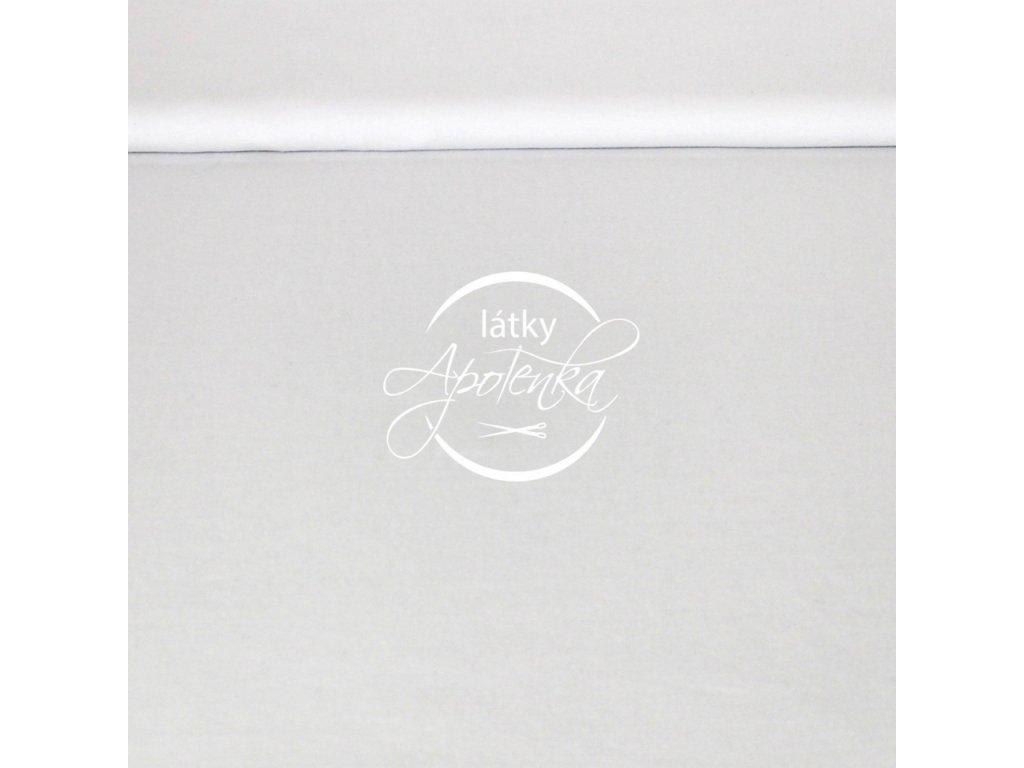 Zbytek 35cm - Teplákovina jednobarevná bílá 280g