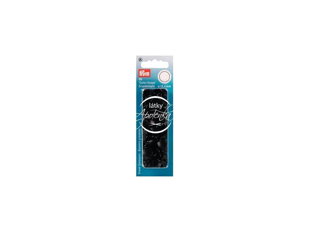 Patentky COLOR SNAPS - černé 393105