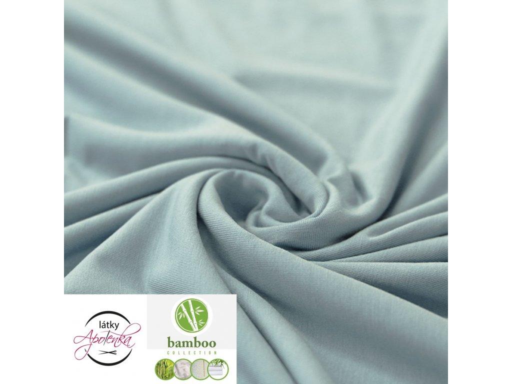 Bamboo jersey fabric Sea Green 800x800
