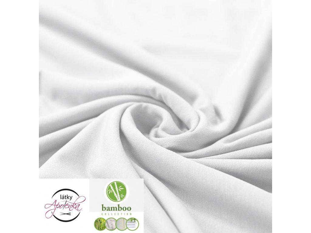Bamboo jersey fabric white 800x800