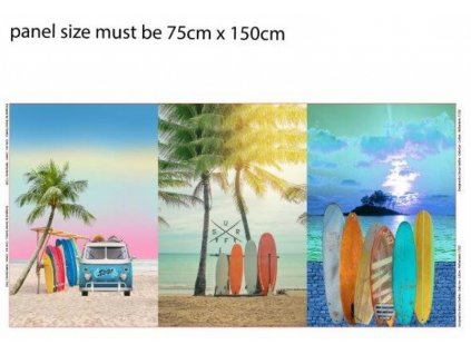 Trojpanel 75x150cm surfy 215g