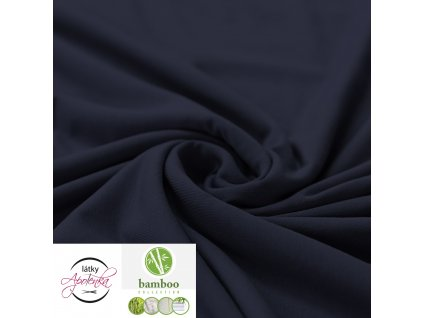 Bamboo jersey fabric navy 800x800