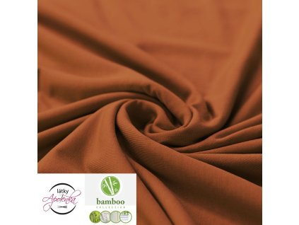 Bamboo jersey fabric cognac 800x800