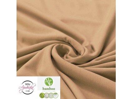 Bamboo jersey fabric camel 800x800