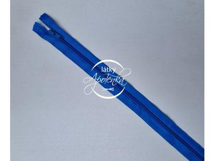 Zip zdrhovadlo kostěný 50 cm dělitelný modrý