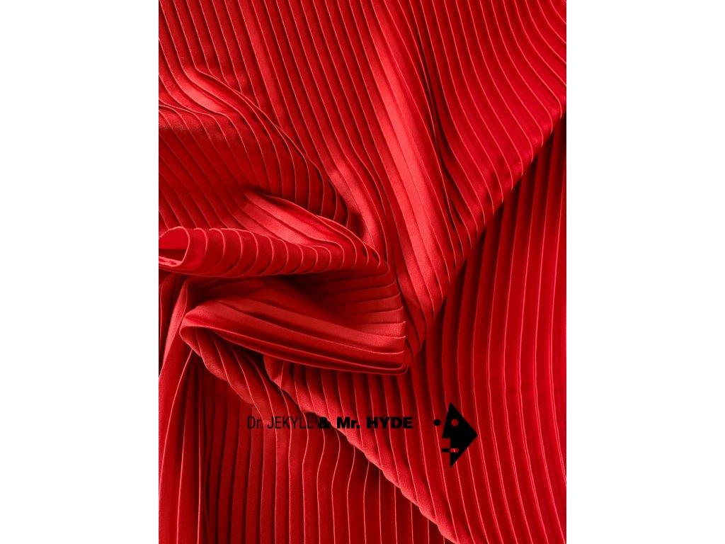 Plisé červená