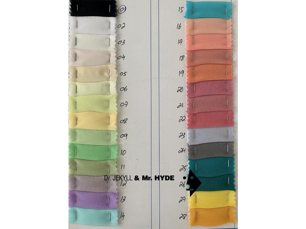 Šifon / Chiffon Diana - 79 barev