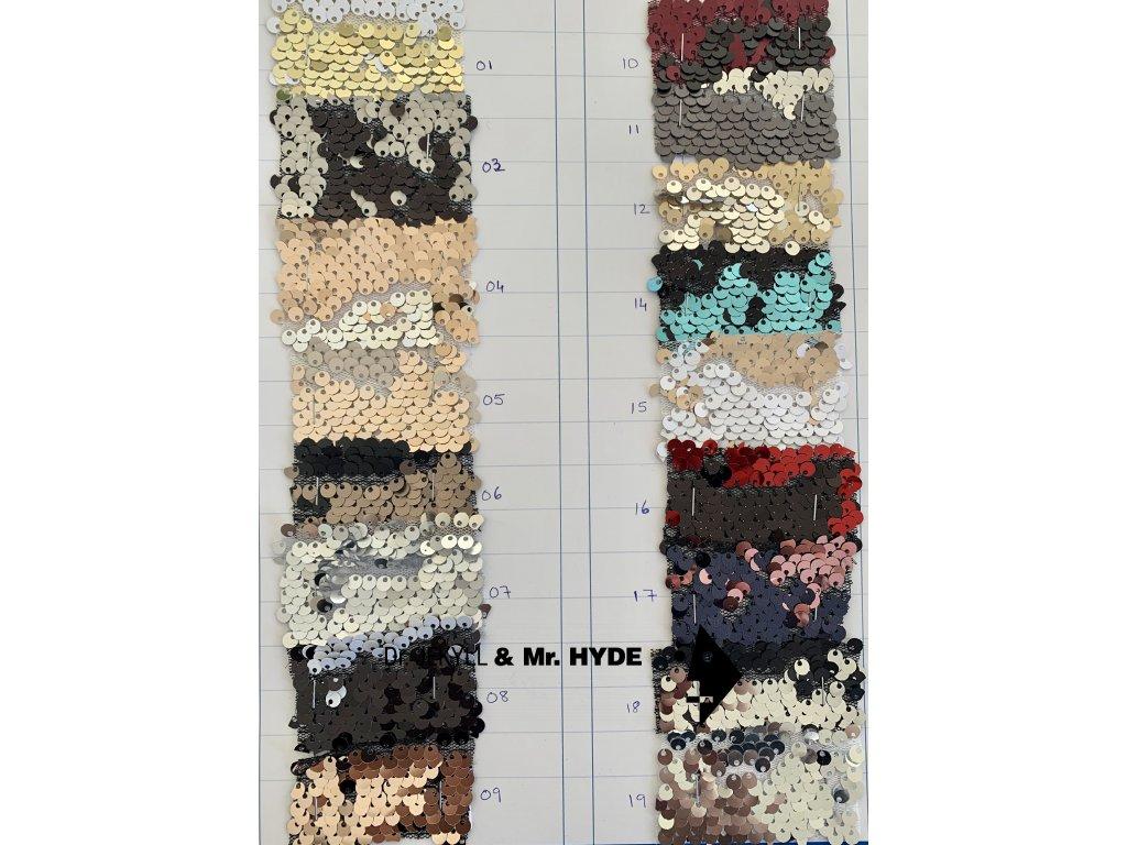 Flitry lesk/mat - 25 barev