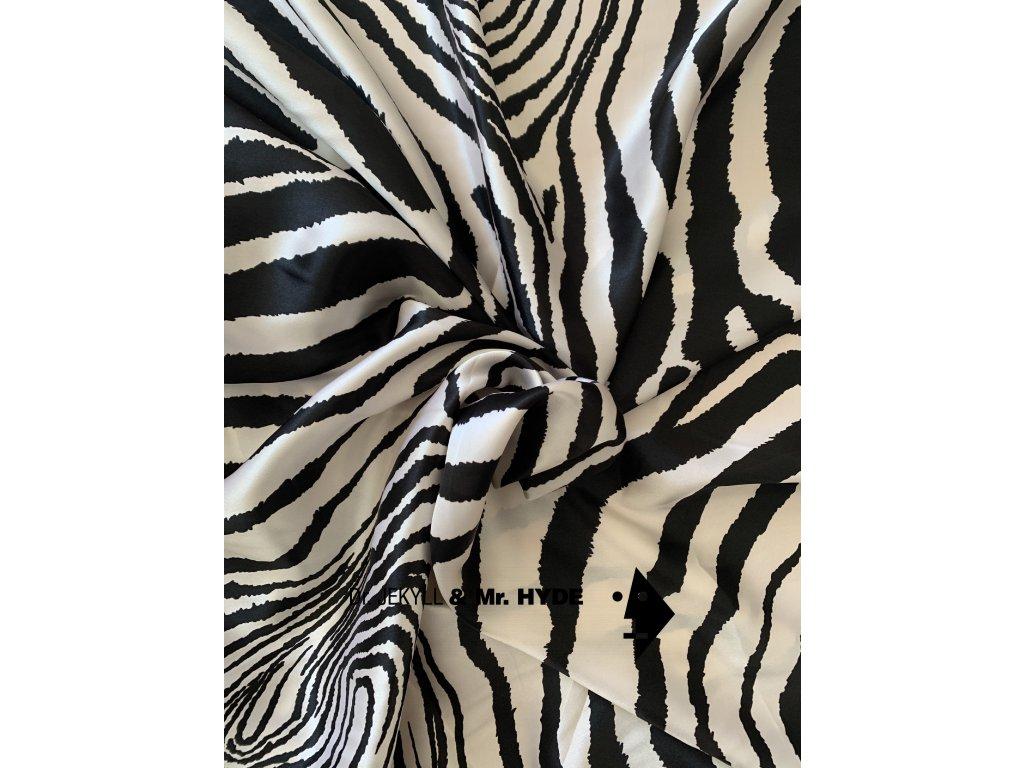 Zebra bílo černá