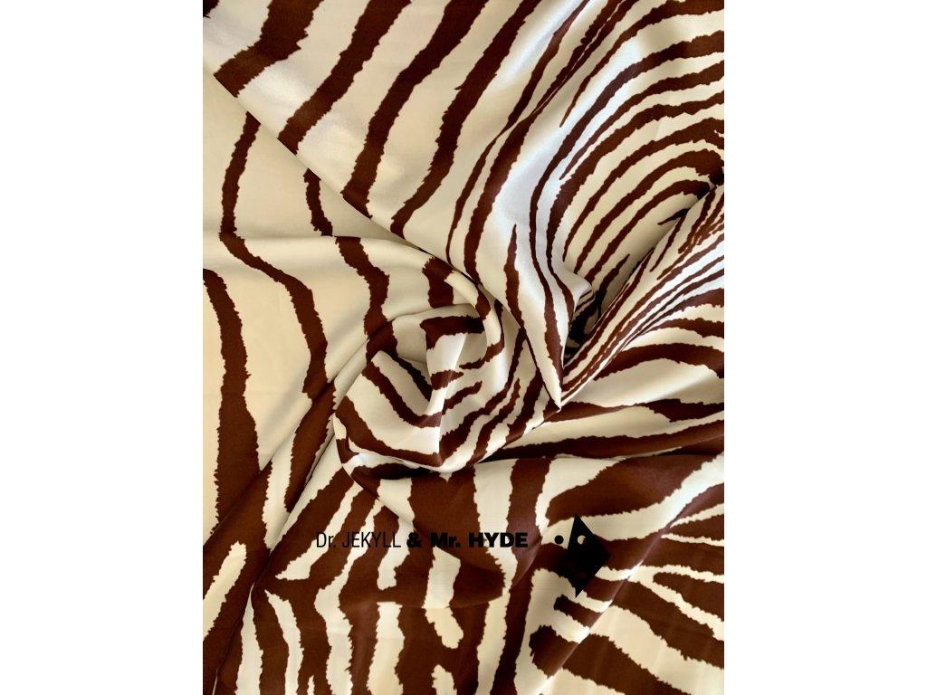 Zebra bílo hnědá