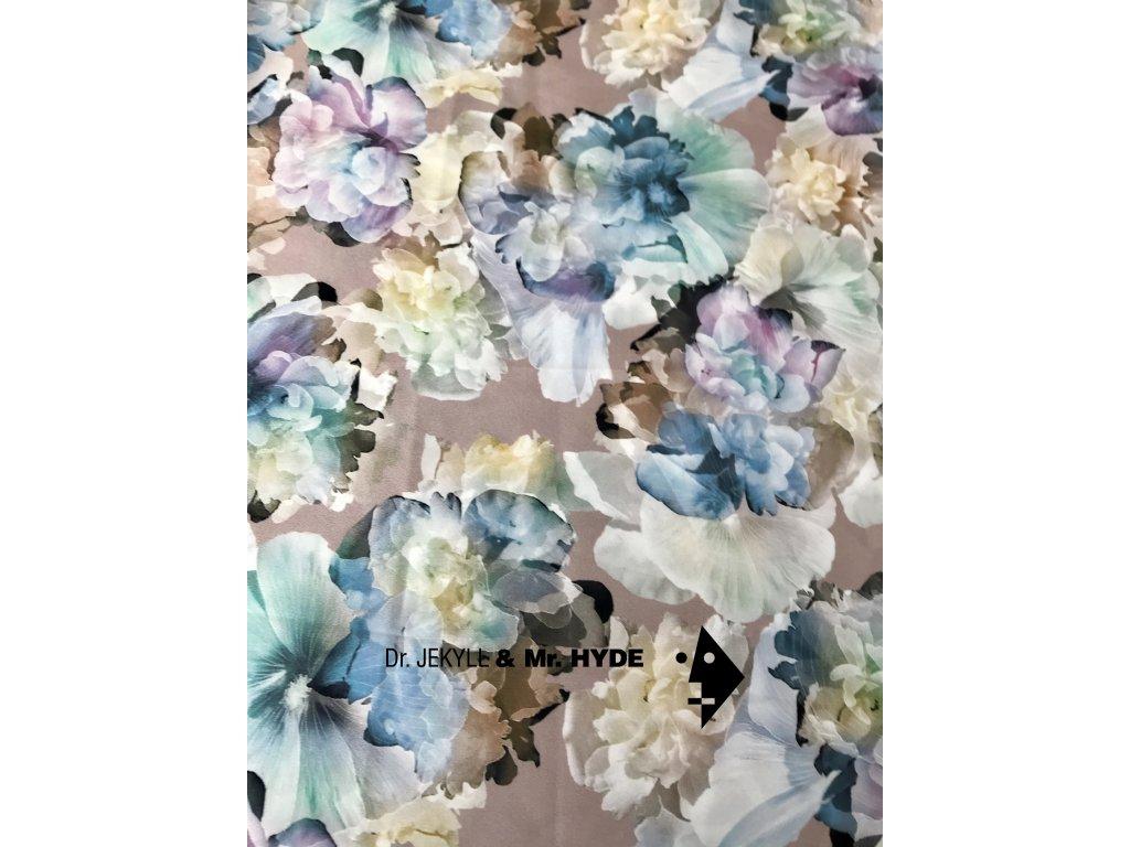 Květiny modrofialové 3D tisk