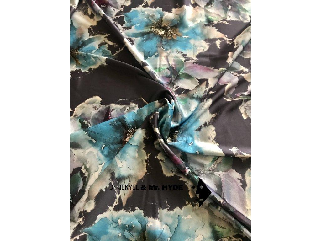 Poinsettia 3D modrá
