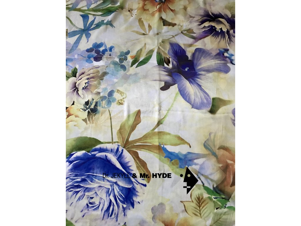 Květiny modrobílé