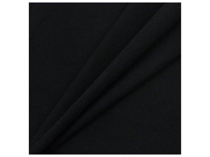 Bambusová teplákovina - černá