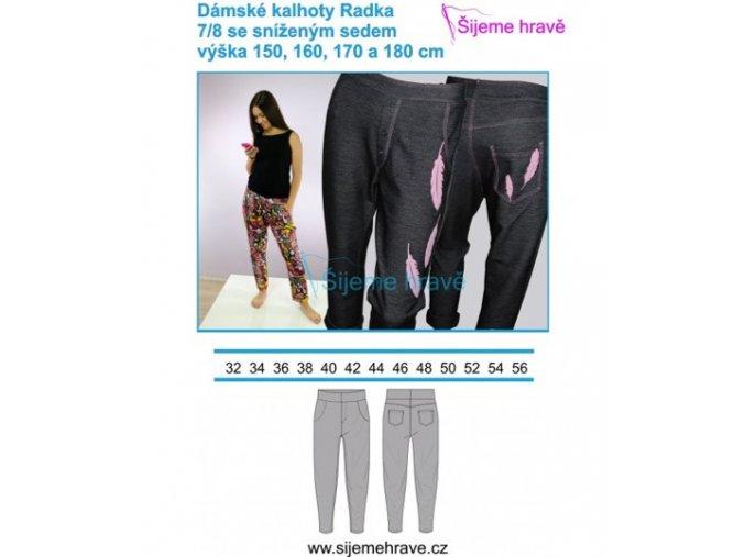 kalhoty radka
