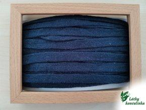 Šňůrka plochá tmavě modrá 2