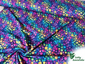 Teplakovina barevne duhove puntiky1