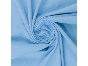 bavlněný úplet světle modrá