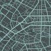 Teplákovina French Terry - Urban map