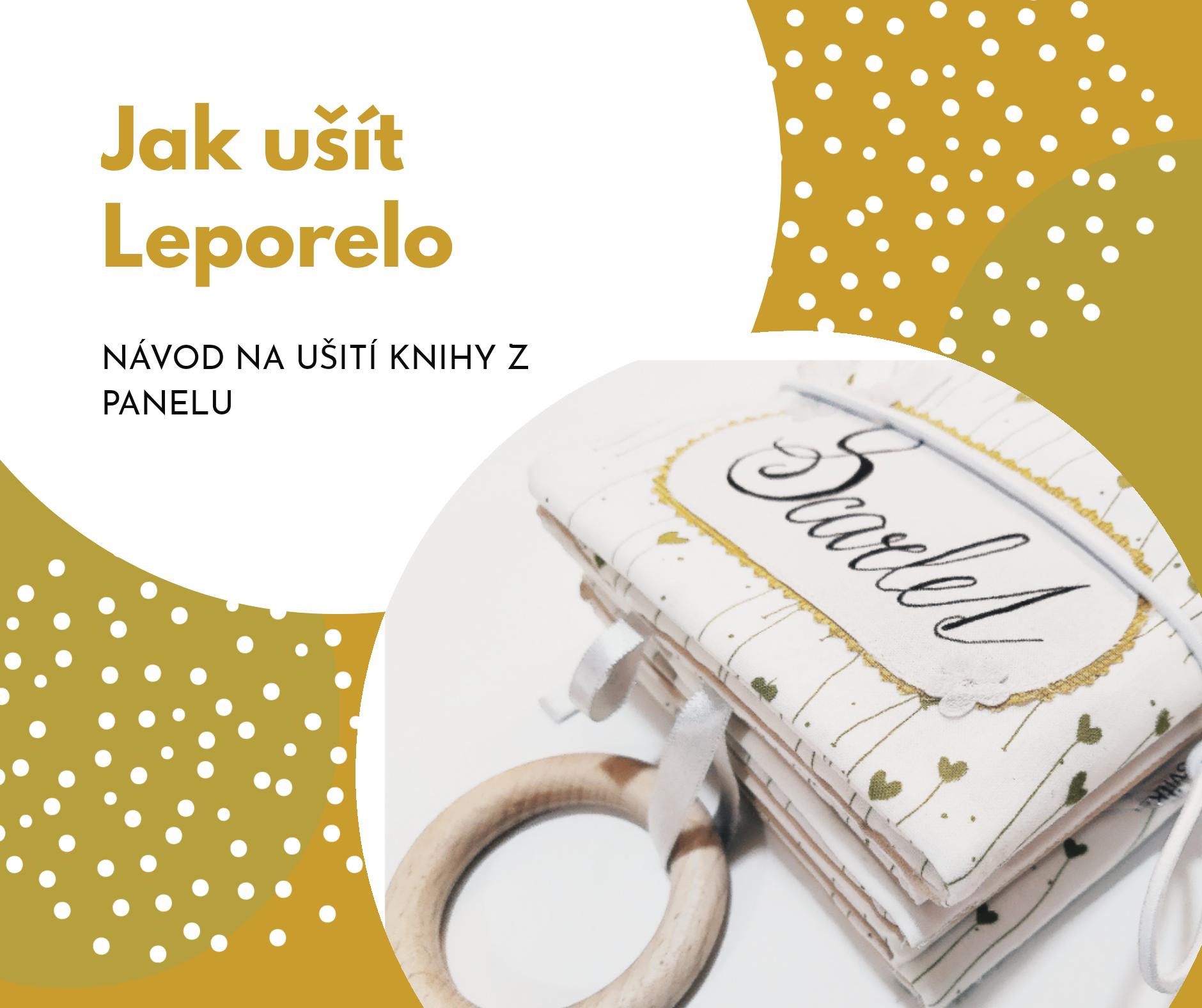 Návod na šité leporelo - textilní knihu pro nejmenší