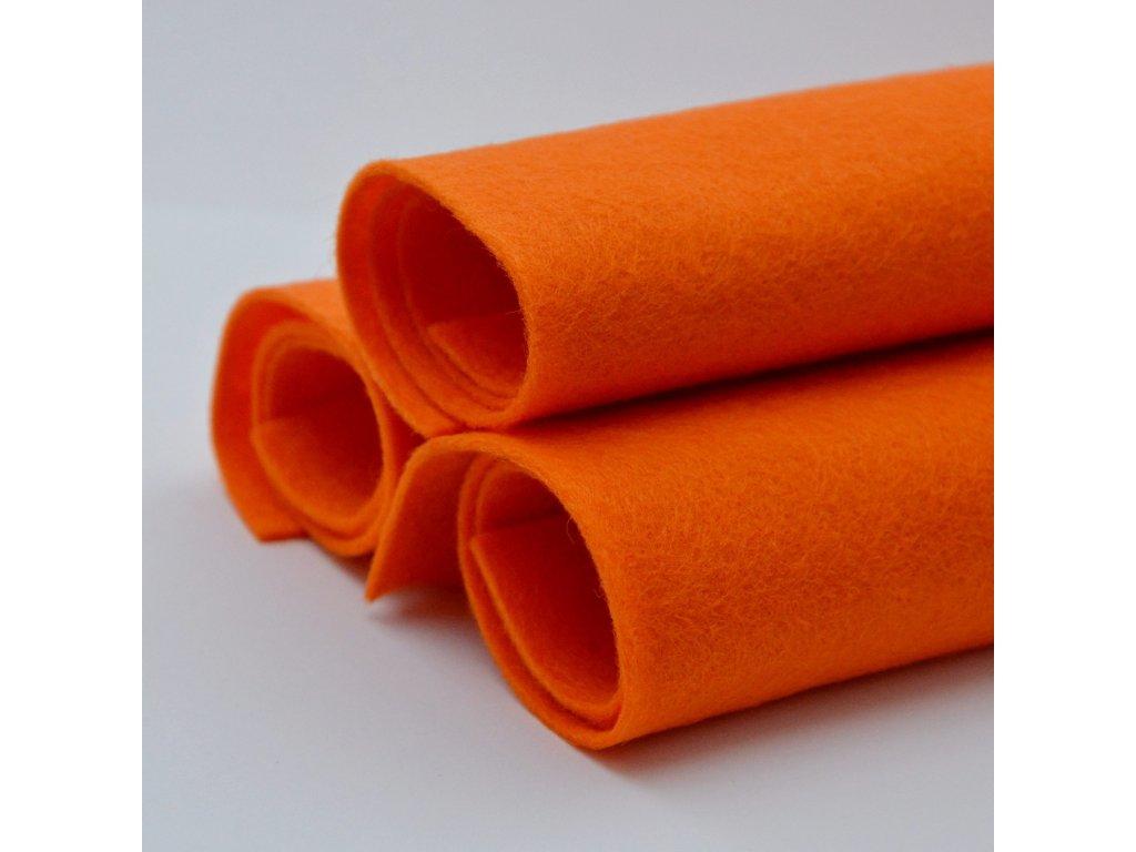 957 smesova plst oranzova