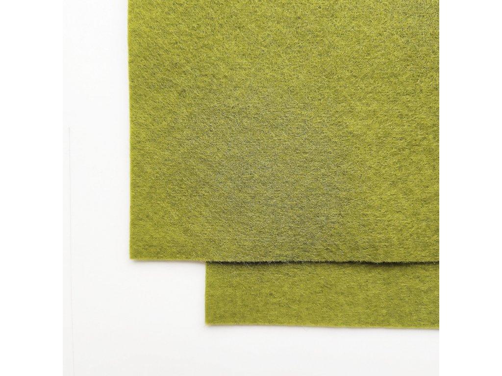 1266 100 vlnena plst olivove zelena tmava atest