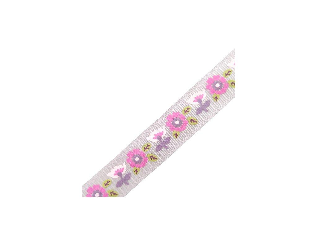 stuha flower pink