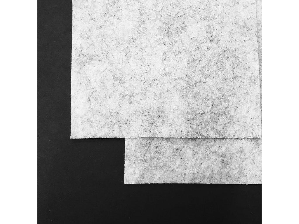 4554 100 polyesterova plst metraz seda melirovana
