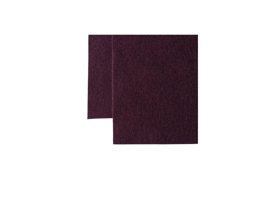 100% vlněná plsť - lilková fialová - atest.