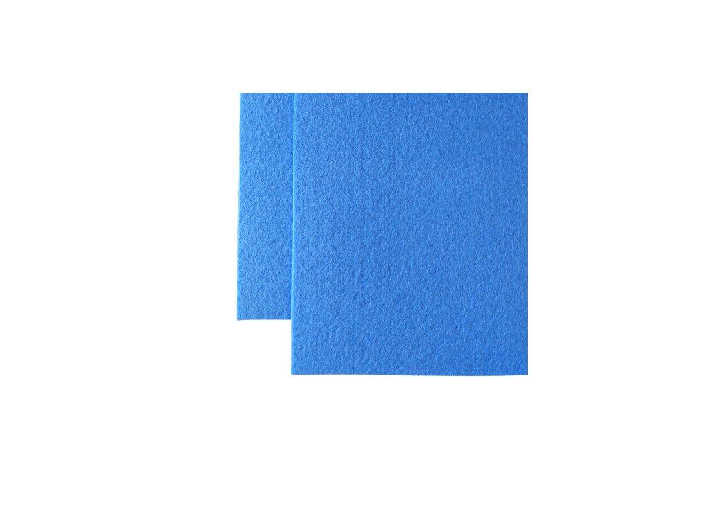 100% polyesterova plst stredne modra