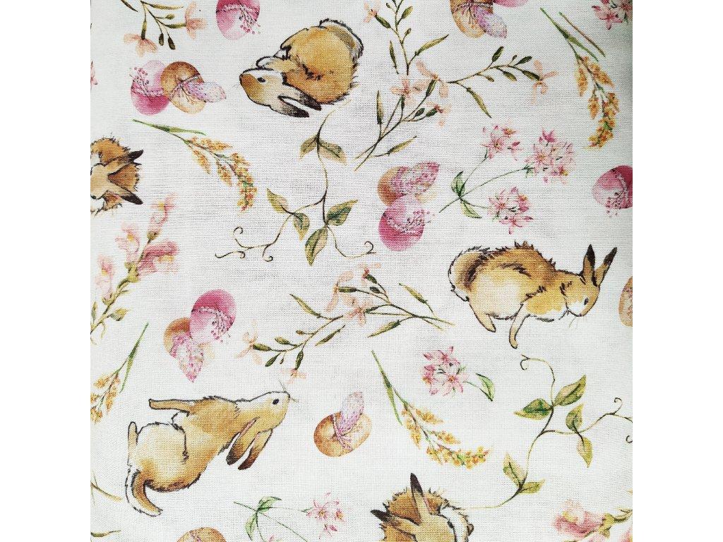 Kreslení králíci s velikonočmími vajíčky