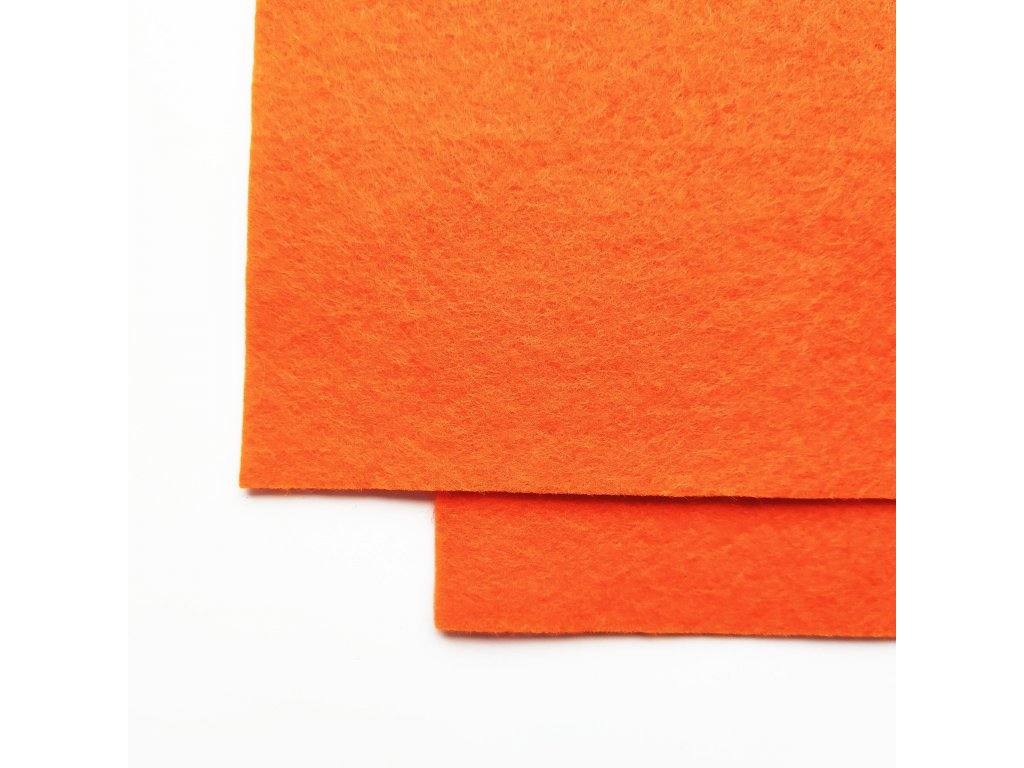 100vlnena plst oranzova